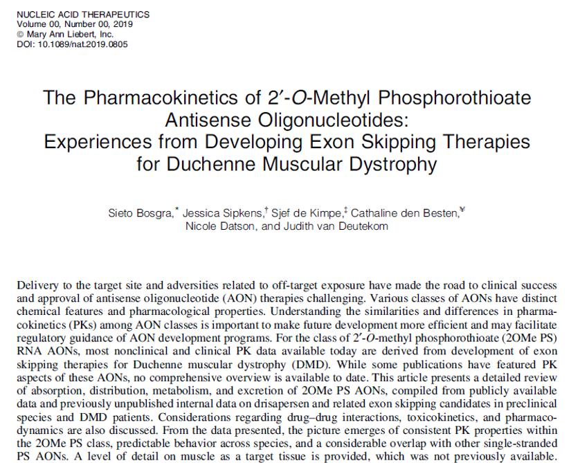Bosgra et al., Nucleic Acid Therapeutics 2019